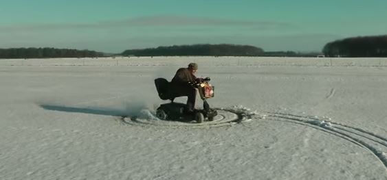 supercharged mobility scooter on snow